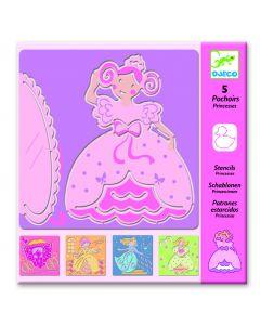 Djeco tekensjabloon Prinsessen 4-8 jaar