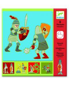 Djeco tekensjabloon Ridders 4-8 jaar