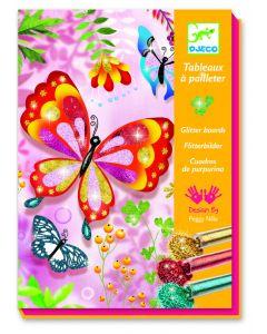 Djeco glitterprenten Vlinders 7-13 jaar