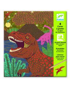 Djeco kraskaarten Dino's 6-10 jaar
