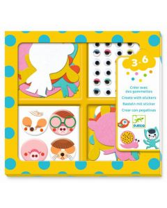 Djeco stickerset I Love Animals 3-6 jaar