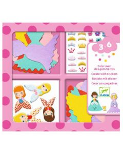 Djeco stickerset I Love Princesses 3-6 jaar