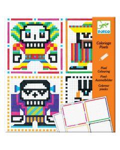 Djeco pixel kleurset Skull Boys 7-13 jaar