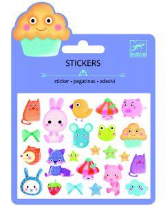 Djeco stickers puffy 23 stuks Kawaii