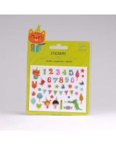 Djeco stickers puffy 42 stuks Verjaardag