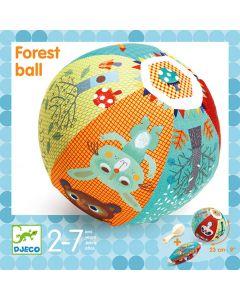 Djeco Zachte bal 23 cm met ballon in en bosmotief