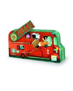 Djeco puzzel Brandweerwagen 3+ 16 stuks