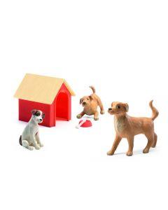 Hondjes voor poppenhuis