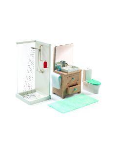 Badkamer voor poppenhuis