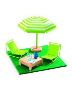 Terrasmeubels voor poppenhuis