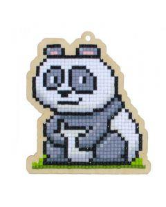 Diamond Painting op hout M panda