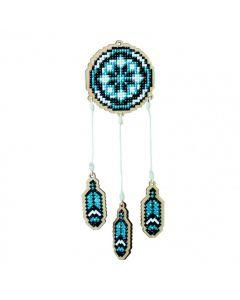 Diamond Painting op hout L dromenvanger blauw