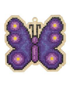 Diamond Painting op hout L vlinder
