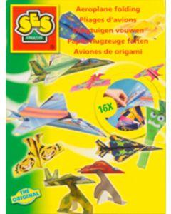 Ses set vliegtuigen vouwen