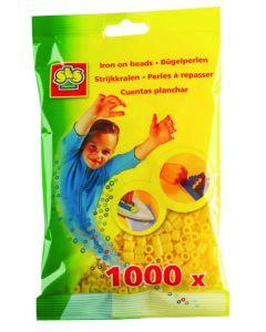 Ses strijkkralen 1000 stuks geel