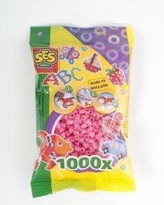 Ses strijkkralen 1000 stuks roze