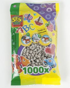 Ses strijkkralen 1000 stuks grijs
