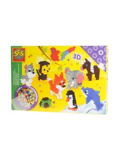 Ses set strijkkralen 3D dieren