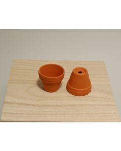 Bloempot terracotta met rand D 3,6 H 3,5 cm