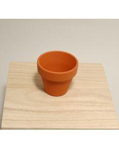 Bloempot terracotta met rand D 5,8 H 5 cm