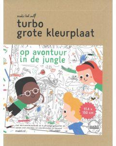Turbo grote kleurplaat Jungle