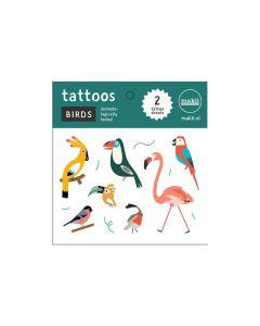 Makii tattoo's vogels