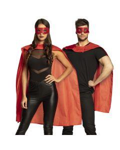 Chiroheld rood (oogmasker + cape)