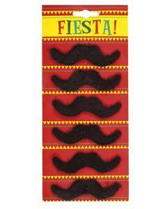 Opkleefbare snorren Fiesta! 6 stuks