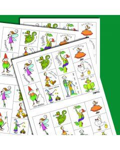 Belonings-postzegelvel 5 stuks x 20 zegels kleur