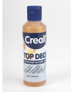 Creall Top Deco acrylverf 80 ml oud goud