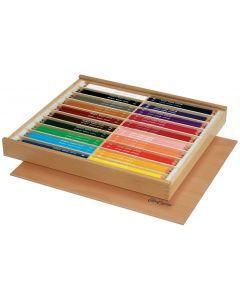 Bruynzeel kleurpotloden dik in houten doos 144 stuks