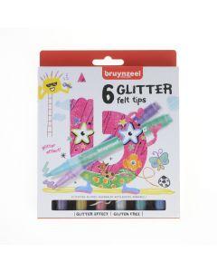 Bruynzeel glitterstiften 6 stuks