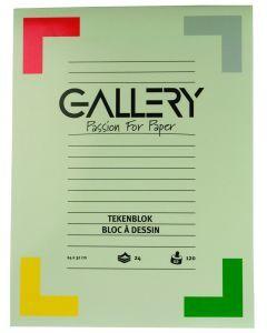 Gallery tekenblok 24 x 32 cm 120 g 24 vellen wit