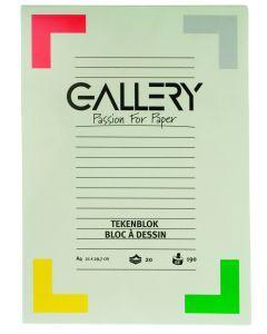 Gallery tekenblok 24 x 32 cm 190 g 20 vellen wit