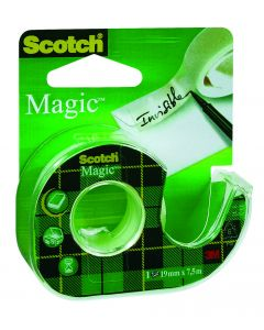 Plakband Scotch Magic 19 mm breed 7,5 m + dispenser