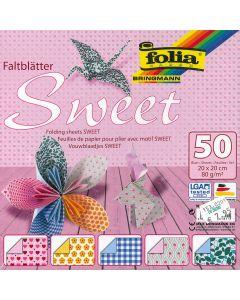 Origamiblaadjes 20 x 20 cm 50 stuks Sweet