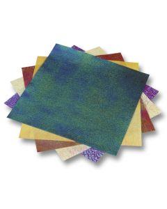 Origamiblaadjes 14 x 14 cm 50 stuks iriserend met reliëf