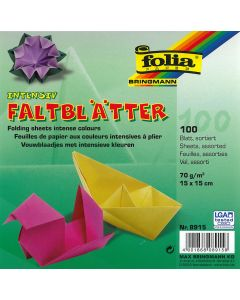 Origamiblaadjes 15 x 15 cm 100 stuks assortiment