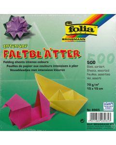 Origamiblaadjes 15 x 15 cm 500 stuks assortiment