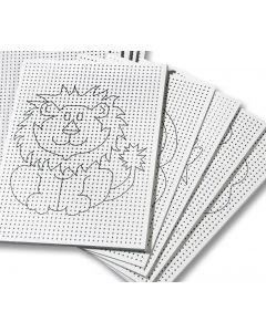 Naaikarton 17,5 x 24,5 cm 40 stuks wit 8 motieven