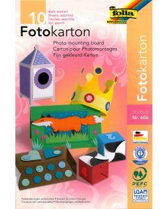 Fotokarton 300 g 22 x 33 cm 10 stuks 10 kleuren