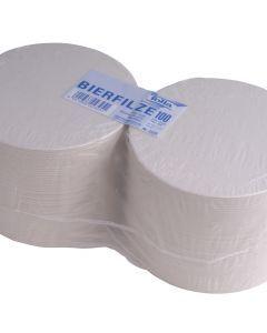 Blanco bierviltjes rond 10,7 cm 100 stuks