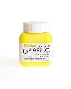 Zeefdrukinkt voor papier 250 g geel