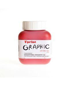 Zeefdrukinkt voor papier 250 g rood