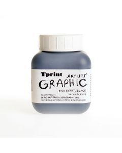 Zeefdrukinkt voor papier 250 g zwart