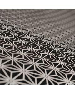 Lokta bedrukt 50 x 75 cm geometrische sterren zwart/wit