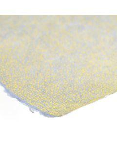 Lokta bedrukt 50 x 75 cm stipjes grijs/geel