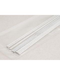 Draad 1,6 mm 50 cm 10 stuks wit