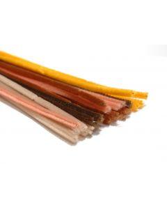 Chenille 6 mm/30 cm ass. bruin 5 x 5 kleuren