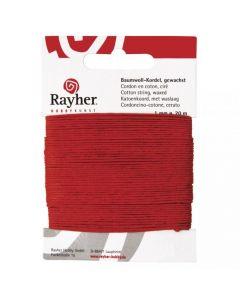 Katoen waxkoord 1 mm 20 m rood